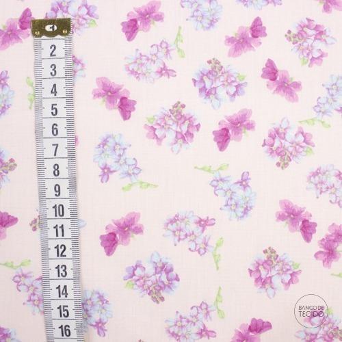 MAL04-0010 Floral Rosa (Sob. Tex.)